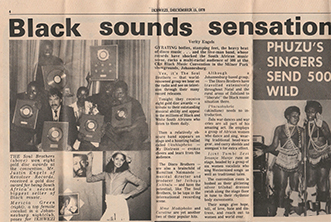 Ikhwezi 15 December 1978 article on CBS Black Music Convention